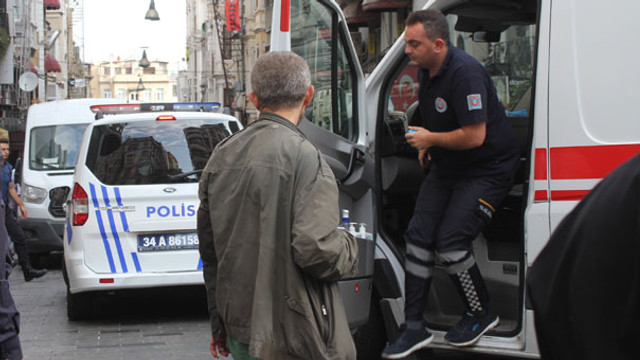 Taksim'de silah sesleri: 1 yaralı