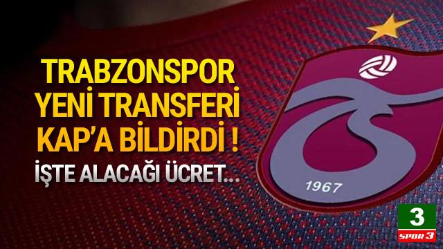 Trabzonspor, Hosseini'yi KAP'a bildirdi