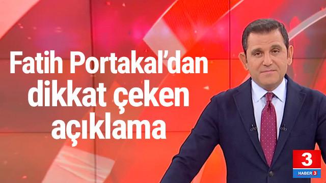 Fatih Portakal'dan Twitter'da dikkat çeken açıklama