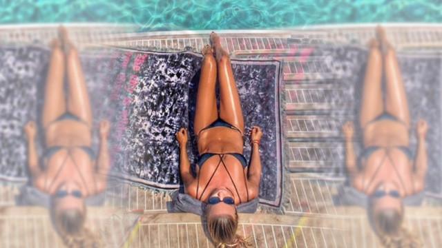 Ivana Sert'in bikinili ''günaydın'' pozu olay oldu