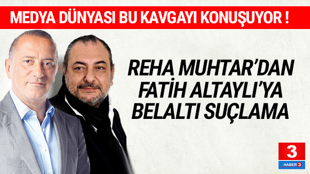 Reha Muhtar'dan Fatih Altaylı'ya belaltı suçlama