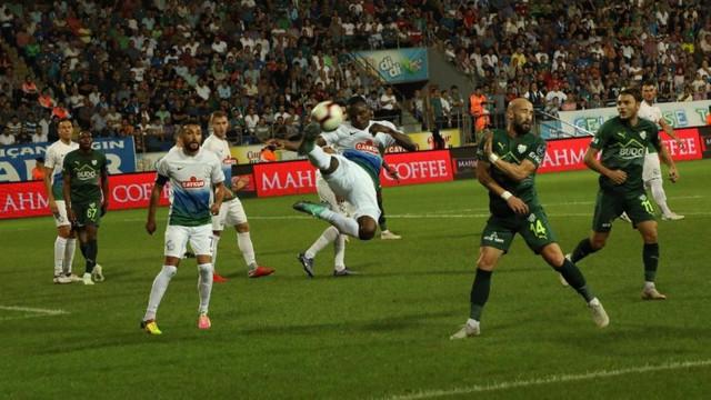 Çaykur Rizespor - Bursaspor: 1-1