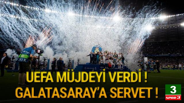 UEFA'dan Galatasaray'a servet !
