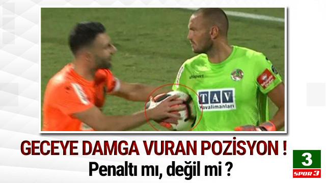 Alanyaspor - Trabzonspor maçında ilginç pozisyon !
