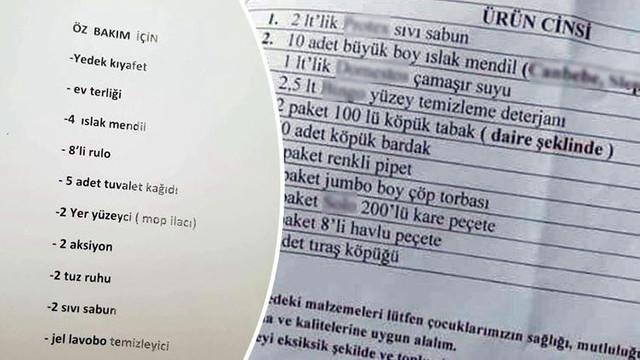 Kıbrıs'ı karıştıran liste: Öğrencilerden bunları istediler