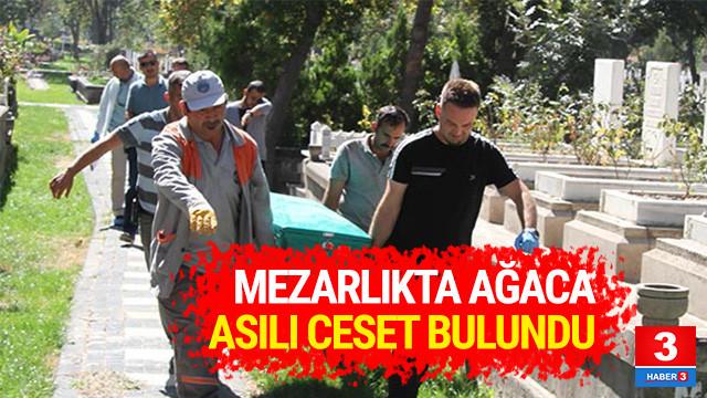 Mezarlıkta ağaca asılı cesedi bulundu