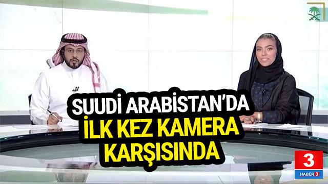 Suudi Arabistan'da ilk kez kamera karşısında
