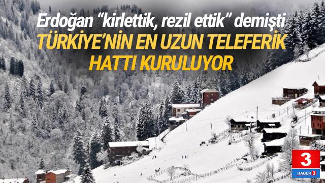 Türkiye'nin en uzun teleferik hattı geliyor