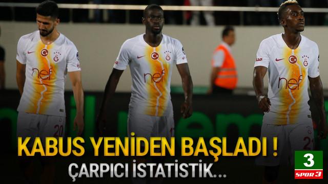 Galatasaray'da deplasman kabusu yine başladı