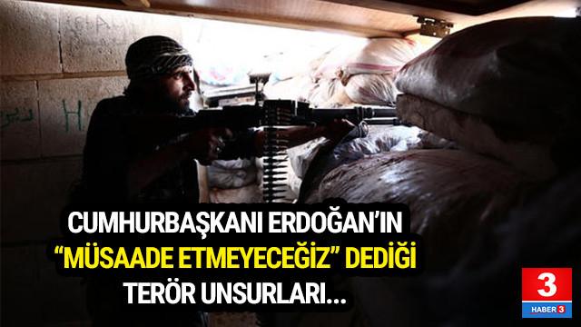 Erdoğan'ın ''müsaade etmeyeceğiz'' dediği teröristler !