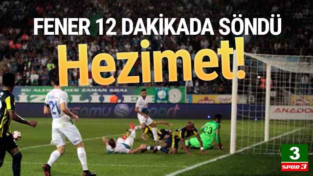 Fenerbahçe'de büyük hezimet !