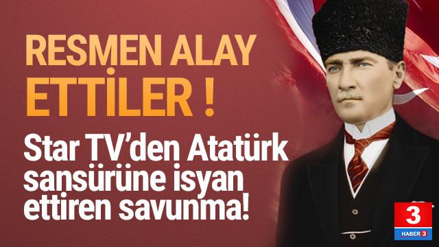 Atatürk kalbimizde yaşıyor sahnesine sansüre komik açıklama