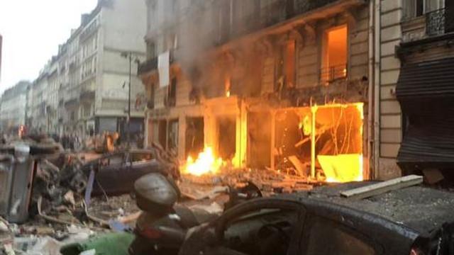 Fransa'da şiddetli patlama !