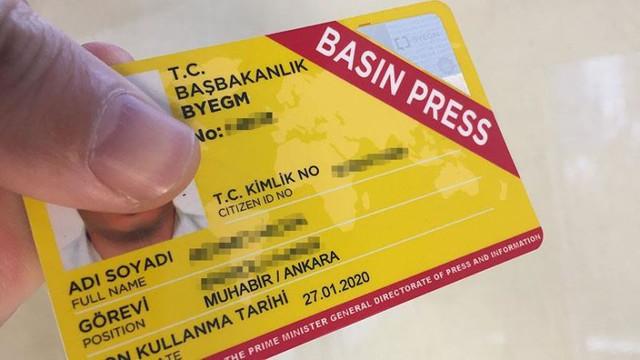 Sarı Basın Kartı düzenlemesi Meclis gündeminde