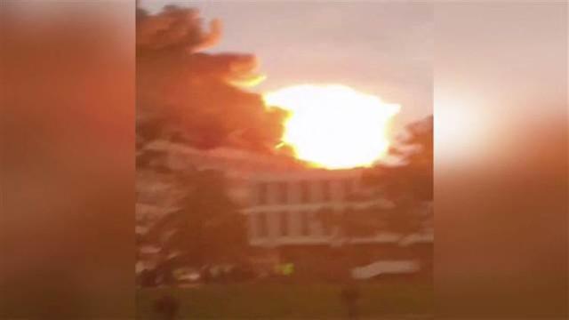 Fransa'da üniversitede patlama ! Dehşet anları kamerada