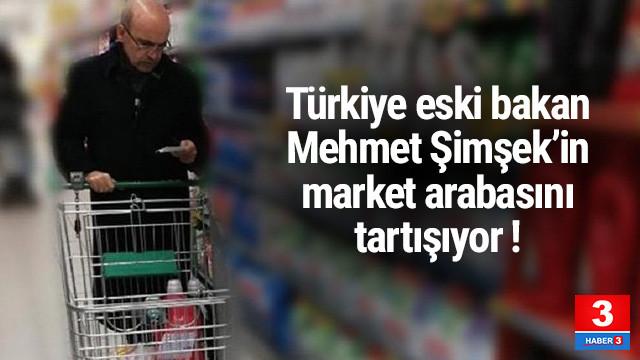 Eski Bakan Şimşek'in market arabası olay oldu