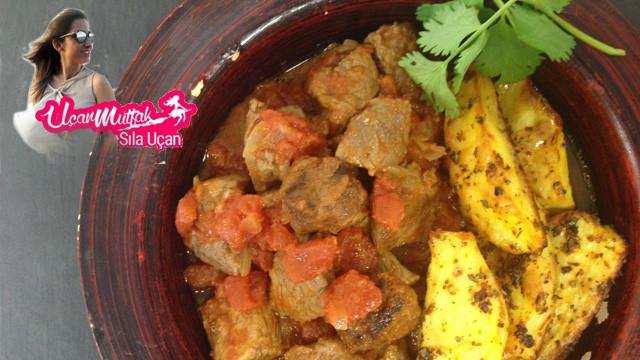 Aromatik bir et yemeği: Patatesli kuzu eti