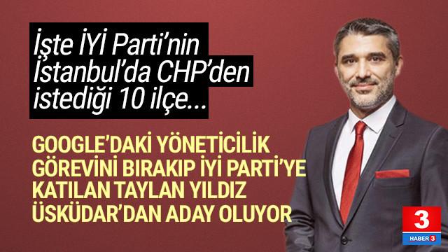 İşte İYİ Parti'nin İstanbul'da CHP'den istediği ilçeler
