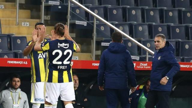 Fenerbahçe - Ümraniyespor maçında Michael Frey sakatlandı