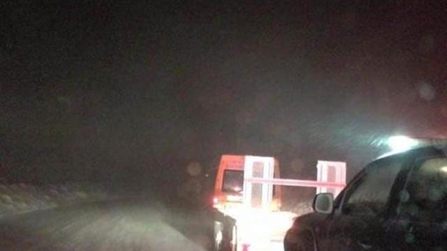 Kayak merkezinde 100 kişi mahsur kaldı