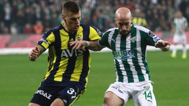 Bursaspor ligde son 5 maçta galibiyet elde edemedi