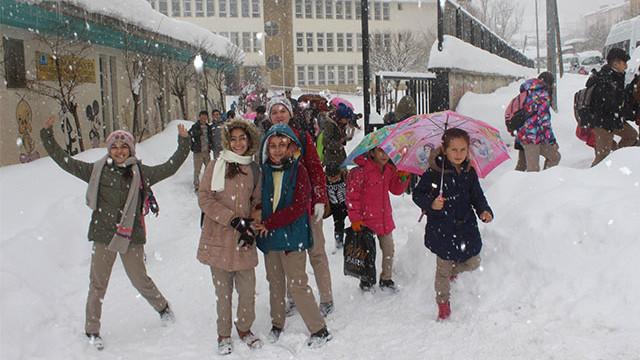 Eğitime kar molası ! Birçok ilde okullar tatil edildi