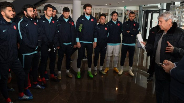 Mircea Lucescu 2. Lig karma takımları maçını takip etti