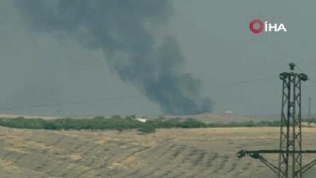 Süleyman Şah Türbesi çevresine yoğun ateş