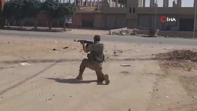 Suriye'de çatışma anları kamerada !