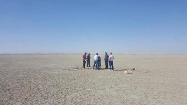 Karapınar'da toprağa gömülü erkek cesedi bulundu
