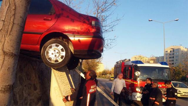 Kazayı görenler şaştı kaldı !