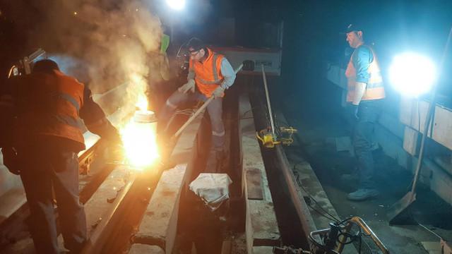Ankara Metrosu'nun rayları yenileniyor
