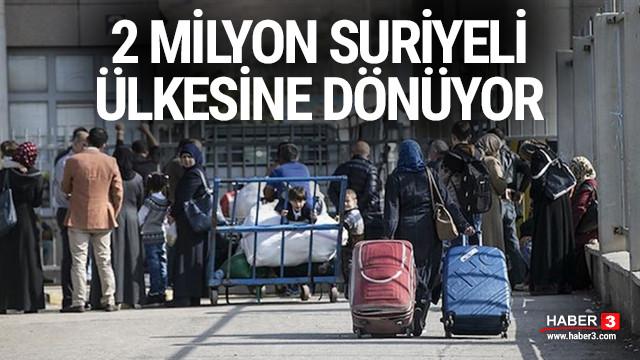 2 milyon Suriyeli ülkesine dönüyor !