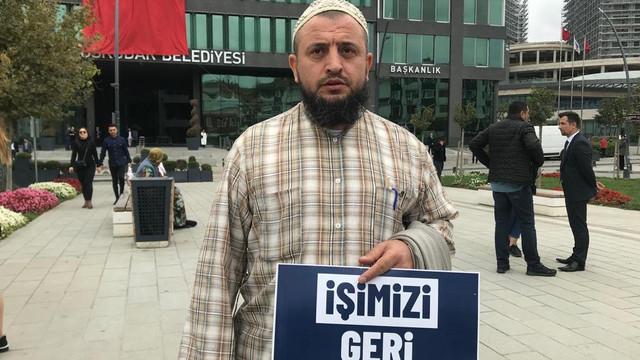 Üsküdar Belediyesi mağdurlarının eylemi devam ediyor