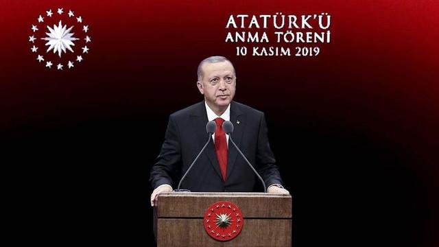 Cumhurbaşkanı Erdoğan'dan 10 Kasım'da ''Osmanlı'' vurgusu