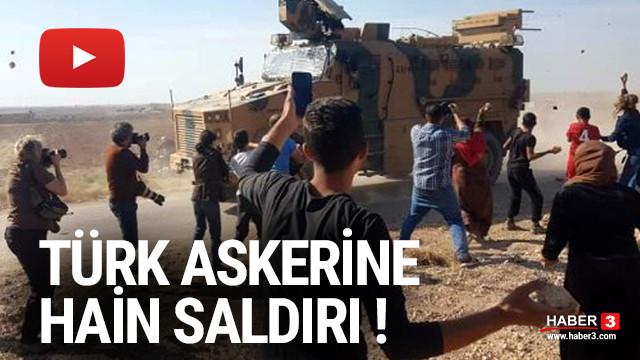 YPG yandaşları Türk askerine taşla saldırdı