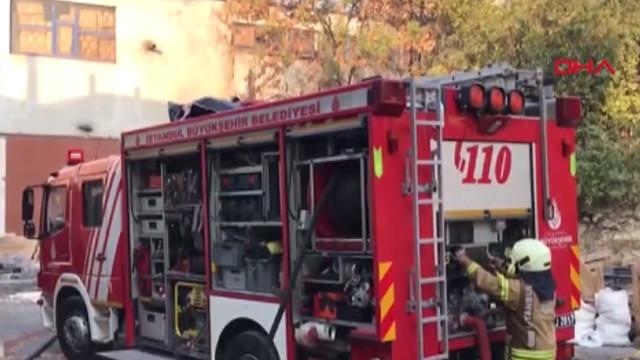 Küçükçekmece'de fabrikada korkutan yangın