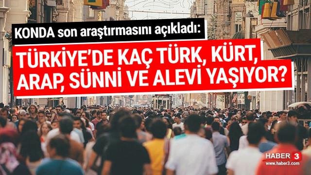 KONDA açıkladı: Türkiye'de kaç Kürt, Türk, Arap, Sünni, Alevi yaşıyor?