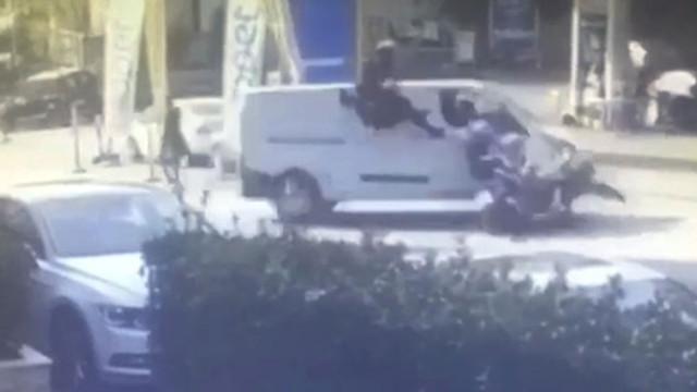İstanbul'da motosikletli gencin ölümü kamerada