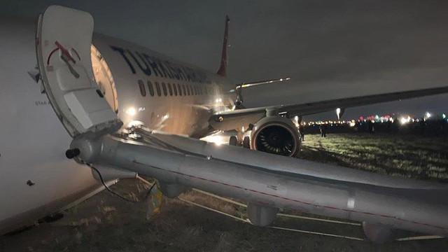 THY uçağı Odessa'da faciadan döndü