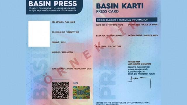 685 ismin basın kartı iptal edildi