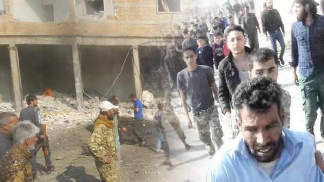 Tel Abyad'da bombalı saldırı: Terörist sağ yakalandı