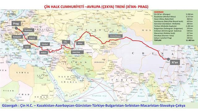 Çin'den yola çıkan tren Ankara'ya ulaştı