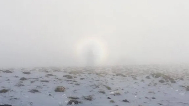 Nemrut Dağı'nda esrarengiz olay böyle fotoğraflandı