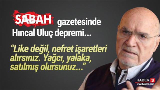 Sabah'ta Hıncal Uluç depremi: ''Erdoğan'ı ve hükümeti neden yazmıyorsunuz?'