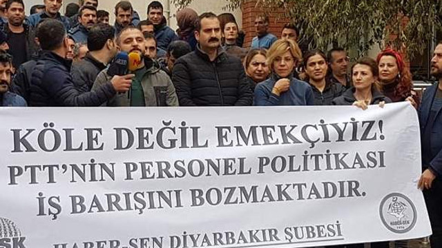 PTT çalışanları eylemde