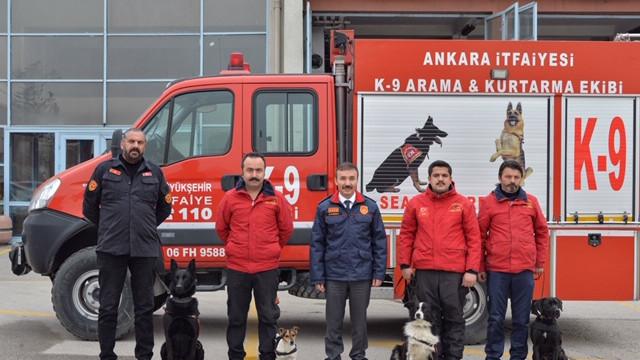 Ankara İtfaiyesi K-9 köpekleri artık lisanslı