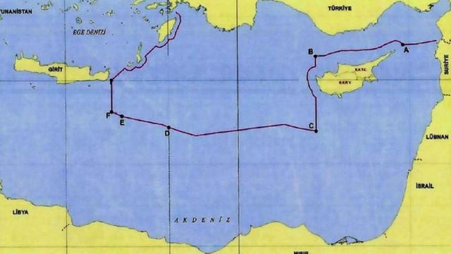 Türk diplomatın paylaştığı harita Yunanistan'ı karıştırdı !