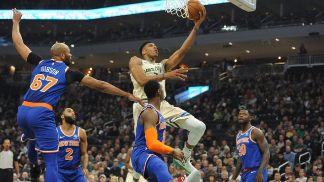 Milwaukee Bucks 132-88 New York Knicks (Giannis Antetokounmpo'dan 29 sayı, 15 ribaunt)