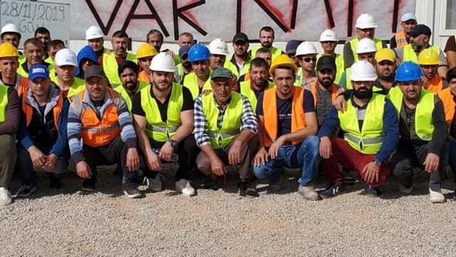Türkiye işçiler Cezayir'de grevde